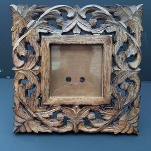 Other - Wood Carved Square Picture Frame